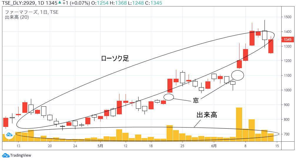株価チャート(自宅でネット株)