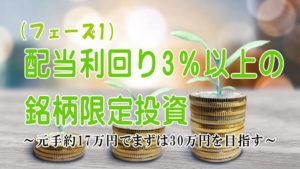 配当利回り3%以上の銘柄限定投資(フェーズ1)